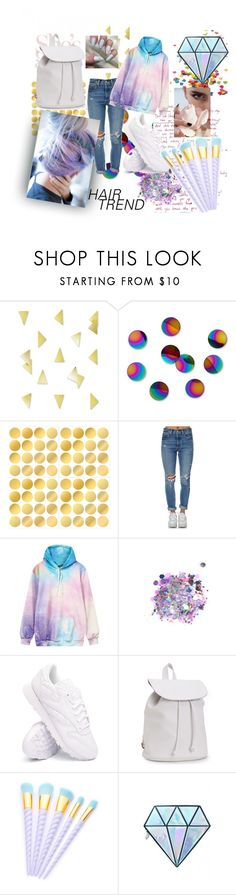 """""""Rainbow Pastel Galaxy"""" by blue99star on Polyvore featuring Umbra, Levi's, The Gypsy Shrine, Reebok, Aéropostale and Unicorn Lashes"""