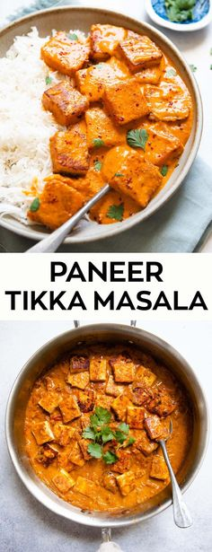This simple paneer tikka masala is a delicious vegetarian dinner recipe. It contains pieces of pan fried Indian cottage cheese in a creamy tomato-based sauce Vegetarian Recipes Dinner, Veg Recipes, Indian Food Recipes, Asian Recipes, Healthy Dinner Recipes, Cooking Recipes, Indian Vegetarian Recipes, Indian Paneer Recipes, Paneer Curry Recipes