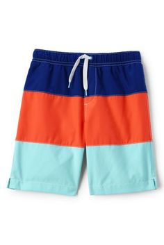 Boys Colorblock Swim Trunks from Lands' End