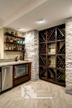 Cool basement wet bar
