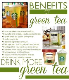We've all heard that green tea is healthy. From increased brain function to improved skin tone, the evidence shows, The Health Benefits of Green Tea can help you live longer and improve your health. Healthy Drinks, Get Healthy, Healthy Tips, Detox Drinks, Healthy Nutrition, Healthy Choices, Healthy Foods, Health And Beauty, Health And Wellness