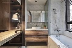 American country style bathroom