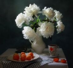 With a bouquet of peonies and apricots by Tatiana Skorokhod on 500px