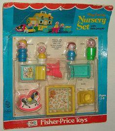 Fisher Price Little People Nursery Set Jouets Fisher Price, Fisher Price Toys, Vintage Fisher Price, 90s Childhood, My Childhood Memories, Family Memories, Disneyland, 80s Kids, Retro Toys