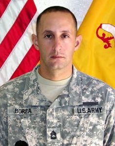 Army Sgt. 1st Class Russell P. Borea  Died January 19, 2007 Serving During Operation Iraqi Freedom  38, of El Paso, Texas; assigned to the 2nd Battalion, 7th Cavalry Regiment, 4th Brigade Combat Team, 1st Cavalry Division, Fort Bliss, Texas; died Jan. 19 of wounds suffered when an improvised explosive device detonated near his Humvee during combat operations in Mosul, Iraq.