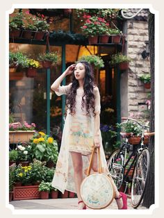 DEAR Li Sen female line of original hand-painted candy-colored vest printed skirt bow lace stitching loose dress - Taobao Taiwan, omnipotent Taobao