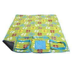 Zelená pikniková deka s motívom kvetov Picnic Blanket, Outdoor Blanket, Beach Mat, Camping, Flowers, Campsite, Royal Icing Flowers, Campers, Flower
