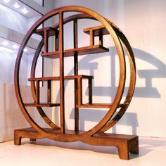 Oriental furniture dark wood chinese assymetric by Amatheria