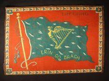 IRELAND FLAG Early 1900s Tobacco Cigar Cigarettes Silks Felt Rug Dollhouse