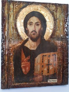 Item International, Christ Pantocrator, Greek Icons, Bee Wax, Gold Labels, Jesus Christ, Great Love, Blessed, Byzantine Icons