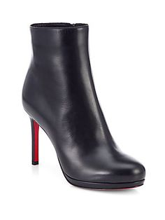 Christian Louboutin Bootylil Leather Ankle Boots #PinToWin