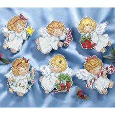Angel Ornaments Set - Cross Stitch, Needlepoint, Stitchery, and Embroidery Kits, Projects, & Needlecraft Tools | Stitchery