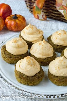 Sugar Free Low Carb Pumpkin Pie Cupcakes made grain free and gluten free too!