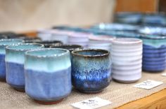 Pretty turquoise cups.