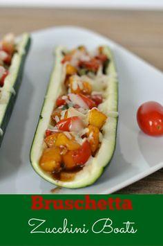 Bruschetta Recipe: Bruschetta Zucchini Boats