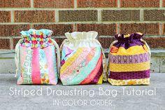 In Color Order: Lined Drawstring Bag Tutorial