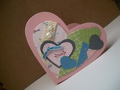 Valentine made with the new Stampin Up Framelits and Fashionable Hearts Embosslit