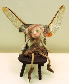 one of a kind polymer clay art dolls .. elves fairies and gnomes by DinkyDarlings