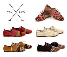Uhhh. Oxfords made from vintage Moroccan rugs? Be still, my heart. TEN & Co.