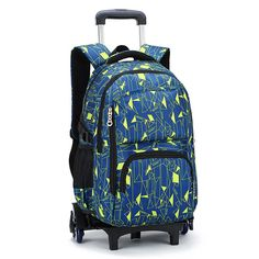Hot Sales Removable Children School Bags with 3 Wheels Child Climb Stair  Trolley Backpack Kids Wheeled Bags Boys Girls Bookbag 3086c30bf6