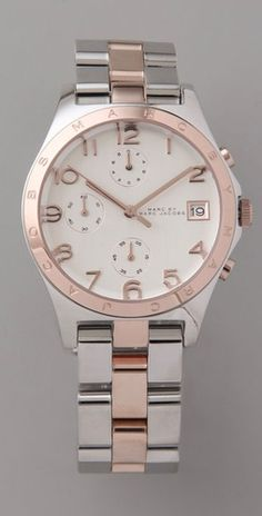 MbyMJ rose gold/silver watch.