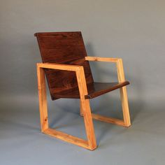 What a fun chair!  Made of reclaimed oak, by David Meyers for Reclaimed Cleveland