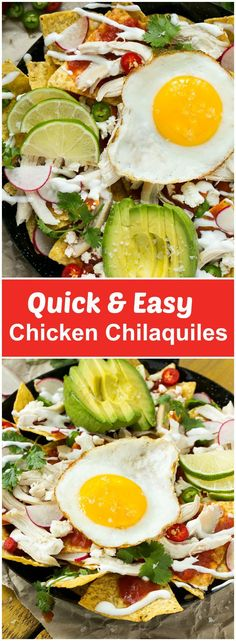 Please welcome my contributor Sara as she shares her recipe for Quick and Easy Chicken Chilaquiles!- Love, Pasta and a Tool Belt   recipes   easy dinner ideas   food   mexican  