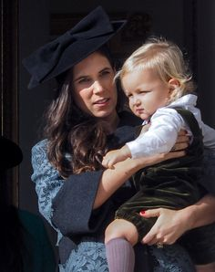 Tatiana Santo Domingo con su hijo Sasha en el Día Nacional de Mónaco 2014: La Familia Real de Mónaco en imágenes en Bekia