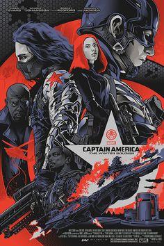 Captain America: Winter Soldier screenprint on Behance