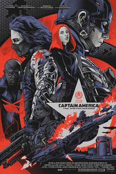 Captain America: Winter Soldier screenprint on Behance