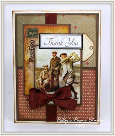 "Ginny Nemchak: Polly's Paper Studio - ""Masculine Cards Creativity Kit"" - 6-15-14"