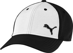 Puma Golf Back 9 X-FIT Black White - Hats   Visors - Apparel - Puetz Golf 393d9cc88ed8