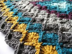 For week 2 of the Wool Eater Blanket CAL (January 18 - we were to add another 4 rounds of pattern. I added Gunmetal Grey, Tea. Yarn Projects, Knitting Projects, Crochet Projects, Crochet Ideas, Crochet Crafts, Cute Crochet, Crochet Hooks, Knit Crochet, Crochet Afghans