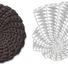 Crochet hat with diagram