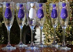 Champane Glass For Bridal Party