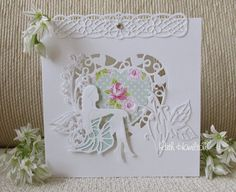 A Passion For Cards: Rhoslyn fairy die - Tonic Studios Rococo Pinterest Birthday Cards, Butterfly Birthday Cards, Tonic Cards, Tattered Lace Cards, Studio Cards, Fairy Crafts, Birthday Cards For Women, Heart Cards, Card Making Inspiration