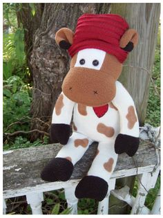 Sock Cow Doll - bought this for my daughter last Valentine....sooo cute!!