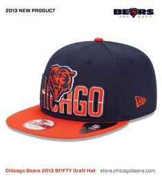 New 2013 Chicago Bears New Era 9FIFTY Draft Hat Bear Shop eb1c9fb596b