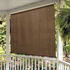 Awesome Exterior Roll Up Shades Gallery - Decoration Design Ideas ...