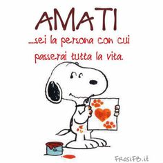 Vogliamoci bene Mafalda Quotes, Snoopy Pictures, Italian Phrases, For You Song, Choose Joy, Charlie Brown, Love Of My Life, Life Quotes, Cartoon