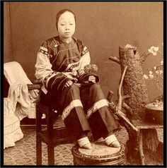 Foot binding was a widespread tradition during the Qing dynasties rule