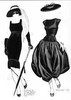 Little Black Dress [Audrey Hepburn, Balenciaga] Fashion Designer, Fashion Art, New Fashion, Fashion Show, Vintage Fashion, Paper Fashion, Fashion Prints, Timeless Fashion, Vintage Clothing