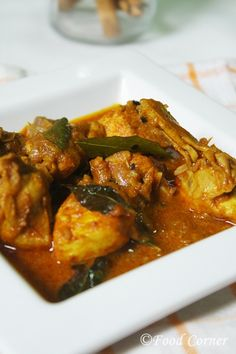 Sri Lanka Chicken Curry (with raw curry spice).