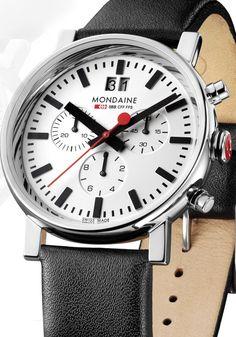 Mondaine - Big Date Chrono White Watch