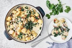 AURA gnocchipannu Salty Foods, Dinner Tonight, Gnocchi, Risotto, Potato Salad, Dishes, Baking, Healthy, Ethnic Recipes