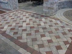 20 stunning cement patio ideas concrete patios patios and concrete pinwheel paver pattern two tone solutioingenieria Gallery