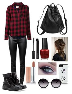 """""""Michael Clifford"""" by imagines5sos ❤ liked on Polyvore featuring Kate Spade, GlassesUSA, Maybelline, Monki, Alexander Wang, Converse, rag & bone, OPI and Witchery"""