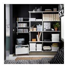 ALGOT Kiinnityskisko/hyllyt, valkoinen - IKEA
