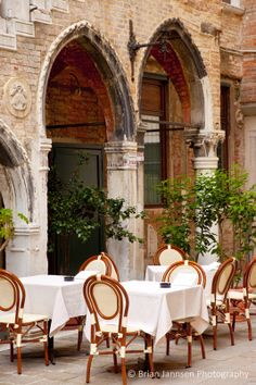Ready for dinner in Venice Italy. © Brian Jannsen Photography