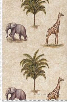 Afrique et savane beige - Papier peint Dekora Natur d'AS Création #elephant #giraffe #wallpaper http://www.papierspeintsdirect.com/afrique-et-savane-beige-papier-peint-dekora-natur-d-as-creation.html